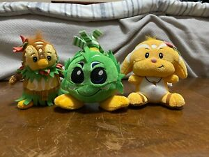 Neopets Keyquest Island Plush Lot without tags