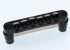 Roller Saddle Tune-O-Matic Bridge BLACK for Import Epiphone Les Paul SG ES Dot