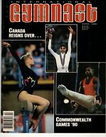 International Gymnast April 1990 Commonwealth Games Lori Strong Mary Fuzesi