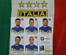 Album Euro 2016 panini AGGIORNAMENTO ITALIA completo  foglietto