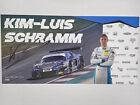 Kim-Luis Schramm Rutronik Racing GT Masters Autogramm original signiert/signed