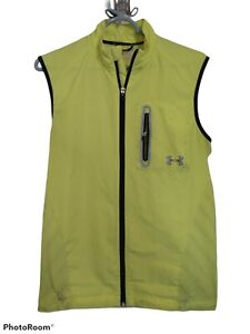 Under Armour Neon Yellow Fitted  Running Vest: Men's Size small