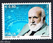 ITALIA 1 FRANCOBOLLO ALTIERO SPINELLI POLITICO 2007 nuovo**