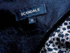 SCANDALS SheerAnimalPrintFlaredPartySz16 as NEW