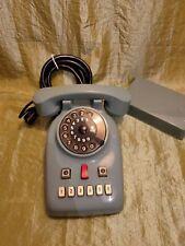 telefono vintage da centralino in bachelite azzurro, disco, Ts,7609 anni 60