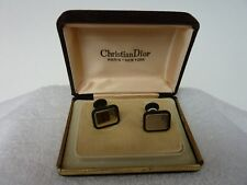 "VINTAGE Christian Dior  Rectangular Cufflinks WITH  ""Dior"""