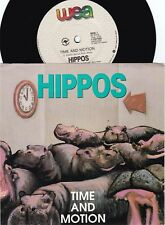 Hippos ORIG OZ PS 45 Time and motion EX '89 WEA 7257458 R&B Blues Foreday Riders