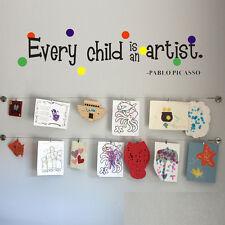Wall Sticker every child is an artist kids Removable Vinyl Decal Art Mural Decor