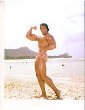 bodybuilder Mr Olympia Arnold Schwarzenegger Original Color Muscle Photo 8x10