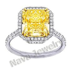 6.02 Ct. Canary Fancy Diamond Engagement Ring EGL
