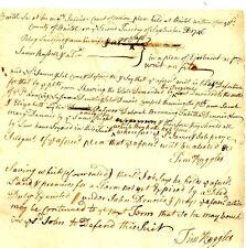 1746 Col Am Doc>TIMOTHY RUGGLES SIG! (Brig Gen-Loyalist Official) BANISHED-MASS