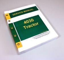 SERVICE MANUAL FOR JOHN DEERE 4030 TRACTOR REPAIR TECHNICAL SHOP BOOK OVERHAUL