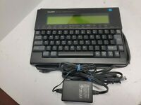 Vintage TANDY WP-2 VINTAGE PORTABLE WORD PROCESSOR , PROTECTIVE CASE WORKING