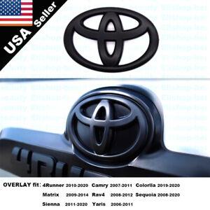 New Custom Blackout Rear Liftgate Overlay Emblem for 4Runner Corolla Sequoia