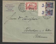 Danzig 1921 , Brief nach Böhmen