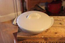 Vintage Melamine / Melmac Boonton Brand U.S.A Large Divided Lidded Serving Bowl