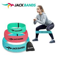 Set of 3 Fabric Fitness Resistance Bands, Anti Slip Loop Band for Booty Butt Hip