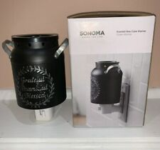 New Sonoma Outlet Warmer for Scented Wax Cubes Black Jug with Handles