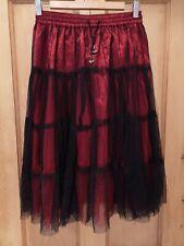 Dark Star Skirt OS Satin Lace Ruffles Gothic Burlesque Moulin Rouge Halloween