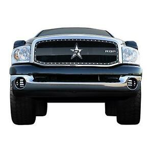 06-09 DODGE RAM 25/3500 RBP SERIES BLACK STUDDED FRAME GRILLE..