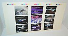 1996 Fleer/Skybox Star Trek Uncut Sheet 9 Registry/Ship Cards Ships Flat