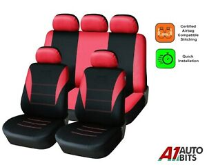 Sporty To Fit Vauxhall Corsa Astra Mokka Zafira Insignia Car Seat Covers In Red