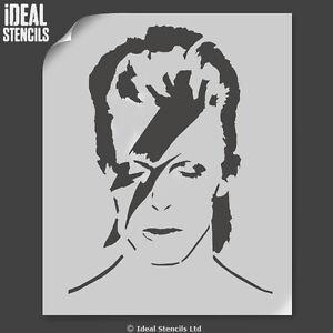 David Bowie Portrait Stencil Painting Reusable Art Craft decorate Ideal Stencils