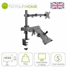 Dihl Tablet Computer Monitor Desk Arm Mount Clamp Stand Laptop VESA 75mm 100mm