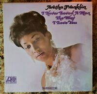 "Aretha Franklin ""I Never Loved A Man"" Vintage Vinyl LP Atlantic 8139 (VG) 1967"