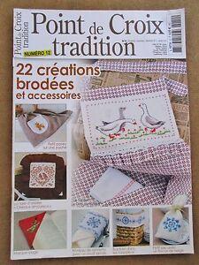 Magazine Point de croix tradition 22 créations brodées et accessoires N°12 /B31