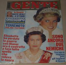 GENTE=1997/40=LADY DIANA=ELTON JOHN=CAPANNORI=TERREMOTO ASSISI=CUCCARINI VENTURA