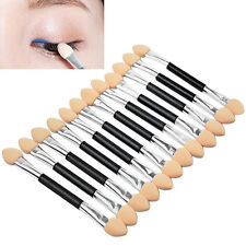 12Pcs Makeup Eye Shadow Sponge Brush Nobby Double-End Cosmetic Applicator