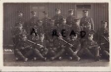 WW1 Soldier group Royal Fusiliers in front of corrugated Barrack Hut