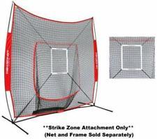 BASEBALL SOFTBALL PRACTICE NET 7'×7' Batting Hitting Training Frame Strike Zone