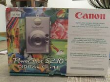 CANON POWER SHOT S230 DIGITAL ELPH CAMERA (New in box?)