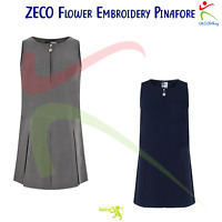 Zeco Girls 3//4 Sleeve Button To Neck Fitted Blouse Easy Iron School College TOP