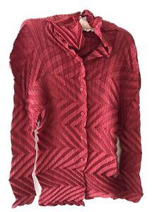 Issy miyake Pleats Crimson Long Sleeve
