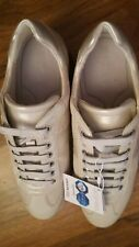BNWT boxed Geox Women's Shoe/trainers Sneakers Leather Suede Fabric uk size 7.5