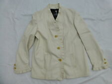 WOMENS MANUEL HERRERO SPAIN LEATHER JACKET COAT SIZE 46 US 14 #W1755