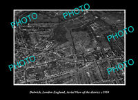 OLD LARGE HISTORIC PHOTO DULWICH LONDON ENGLAND DISTRICT AERIAL VIEW 1950