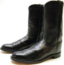 WOMENS JUSTIN L3703 BLACK LEATHER ROPER COWBOY WESTERN BOOTS SZ 6.5~1/2 B