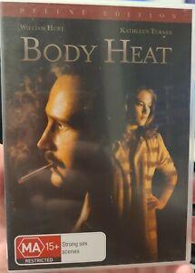 Body Heat region 4 DVD (1981 William Hurt / Kathleen Turner thriller movie) rare