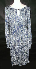 Lovely blue and white print rouched waist GHOST  day dress 18 16