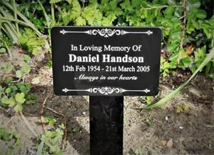 Grave Marker for Pets or People, Engraved and supplied with stake, external use