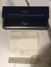 Chopard. 18ct. 750. White Gold, Diamond Bracelet. 8 Inch.
