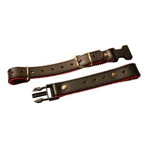 Heavy Duty Accordion Back Strap - Black + Red ribbon Italcinte 134 Italian made
