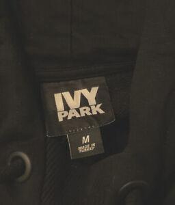 IVY PARK Black Sleeveless Pullover Hoodie Sweatshirt-  Medium