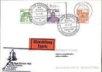 Schiffspost Brief Eilzustellung Schiff MS EUROPA mit hohem Frankatur-Wert 1982