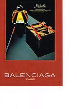 PUBLICITE ADVERTISING  1980   MICHELLE   parfum de BALENCIAGA