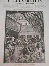 Gravure 1880 - Hotel des Postes Cour du Transbordement